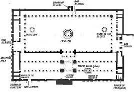 floor plan of mosque the great ummayad mosque muslim heritage