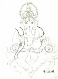 drawing with pencil ganesh laxmi god ganesh drawings free