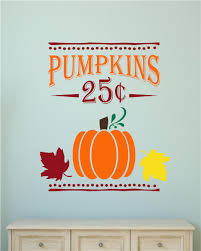 pumpkins 25 cents fall autumn harvest decor vinyl decal wall pumpkins 25 cents fall autumn harvest decor vinyl decal wall stickers letters words