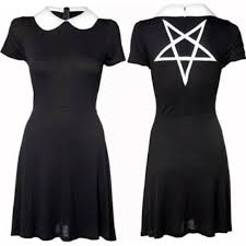 wednesday dress disturbia wednesday dress with pentagram design on a depop