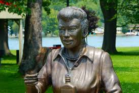 new lucille ball sculpture replaces u0027scary lucy u0027 statue in celoron