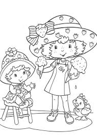 strawberry shortcake coloring page cartoon coloring pages of
