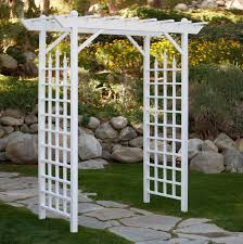 arbor garden pergola vinyl trellis white wedding walkway pics with