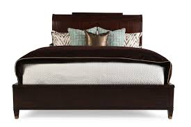Platform Sleigh Bed 64 Transitional Raised Panel Sleigh Bed In Walnut Mathis