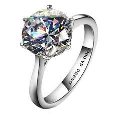 silver diamonds rings images 4ct round brilliant nscd sona simulated diamond jpg