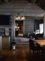 modern log home interiors black stained log cabin in danmark cabin interior design log