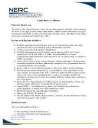 sample resume for information security officer