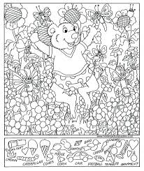 coloring pages free printable hidden picture puzzles free