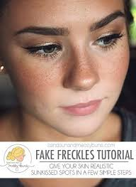 tattoo makeup freckles how to make fake freckles look real fake freckles tutorials and easy