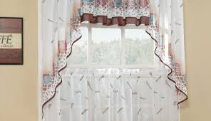 Noise Reduction Curtains Walmart by Curtains Kitchen Curtains Scarlet Floral Kitchen Curtain