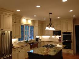 Bathroom Can Lights Kitchen Kitchen With Hanging And Recessed Lighting Fixtures For