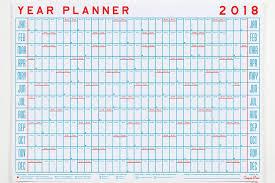 printable annual planner 15 modern calendars for 2018 design milk
