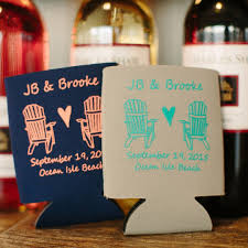 personalized wedding koozies 23 most creative wedding favor koozies ideas for your wedding