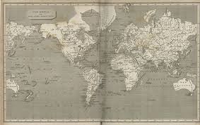 antique map world world historical maps perry castañeda map collection ut