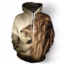 2017 new sweatshirt fall winter casual animal hoodies 3d lion