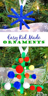 kid made ornaments mess for less