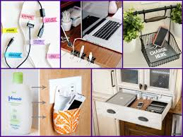decorative charging station easy diy charging station home organization ideas youtube