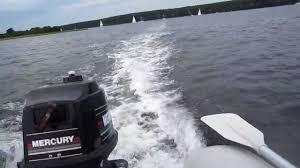 seago 260 4hp mercury onboard ride youtube