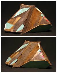 geometric wood sculpture reclaimed wood sculpture by aaron