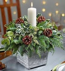 Live Christmas Centerpieces - a vintage pink christmas use an old wooded box fill with
