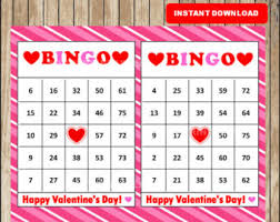 30 valentines bingo cards printable valentine bingo cards