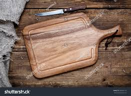 cutting board kitchen knife on old stock photo 282910115