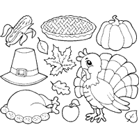 thanksgiving drawing themed thanksgiving blessings