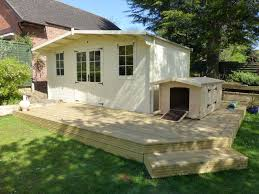 Gardens With Summer Houses - summer house with decking u0026 custom made dog house traditional