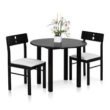 espresso dining table with leaf furinno cos drop leaf 3 pc solid wood dining set one table and two