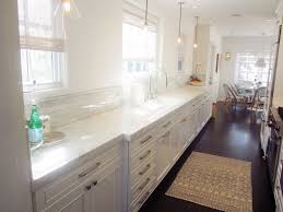 kitchen stylish and ergonomic long narrow kitchen with white