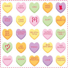 conversation hearts 19 best s day rr conversation hearts images on