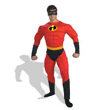 Halloween Costumes Rent Disney Incredible Muscle Costume Buycostumes