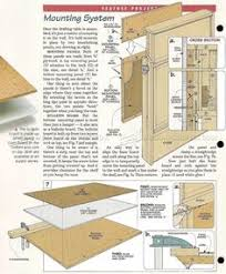 Wood Drafting Table Plans Fold Down Drafting Table Plans Workshop Solutions Plans Tips