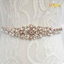 wedding sash 2017 new wedding sash applique cyrstal bridal sash belt gold