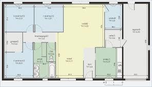 plan maison moderne 5 chambres plan de maison plain pied 4 chambres gratuit mobokive org