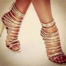 wholesale shinny gold metallic sandals bling crystal strappy high