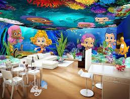 3d underwater baby mermaid fish wall murals wallpaper paper art 3d underwater baby mermaid fish wall murals wallpaper paper art print decor idcqw 000342