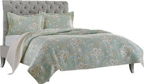 home brompton cotton reversible quilt set by