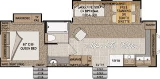 Fifth Wheel Floor Plans Front Living Room Building An Arctic Fox 29v