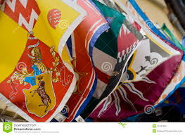 Palio Di Siena Flags The Flags Of The District Of Siena Stock Photo Image 37447584