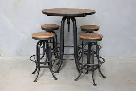 industrial bar table and stools industrial swivel bar table hemisphere living