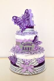 butterfly baby shower levender butterfly diapers cake for baby shower centerpieces