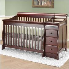 orbelle michelle 4 in 1 convertible wood crib and changer set in