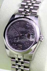 bentley rolex rolex datejust 178240 floral dark rhodium arabic jubilee ladies