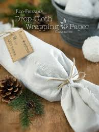 eco friendly wrapping paper drop cloth wrapping paper