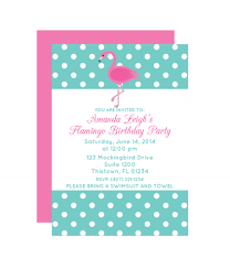 polka dot flamingo party invitation printable party invitations