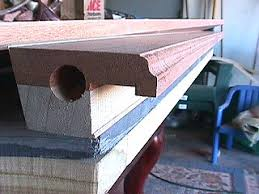 Pool Table Rails Replacement by Finishing The Rails Staining And Inserting The Sights
