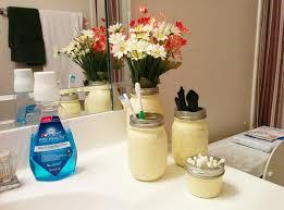 Mason Jar Bathroom Organizer Creative Ways To Use Mason Jars At Home Currently Kelsie