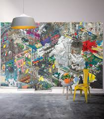 eboy s paris themed pixel art wall mural milton king paris wall mural wallpaper republic