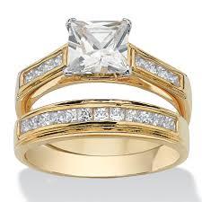 princess engagement ring and wedding band set 1 carat